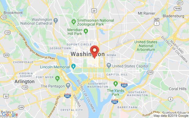 Google map image of 825 10th Street NW DC 20001